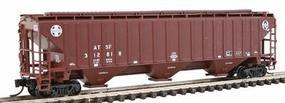 Intermountain PS2CD 4750 Cubic Foot 3-Bay Covered Hopper ATSF N Scale Model Train Freight Car #65361