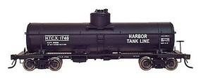 Intermountain ACF Type 27 Riveted 8000-Gallon Tank Car - Ready to Run Harbor Tank Line (black, white lettering) - N-Scale