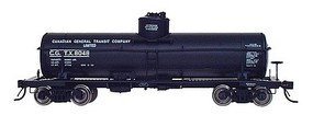 Intermountain ACF Type 27 Riveted 8000-Gallon Tank Car - Ready to Run Canadian General Transit (black w/white lettering) - N-Scale