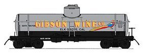 Intermountain ACF Type 27 Riveted 8000-Gallon Tank Car Gibson Wines N Scale Model Train Freight Car #66341