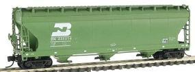 Intermountain ACF 4650 Cubic Foot 3-Bay Covered Hopper BN N Scale Model Train Freight Car #67035
