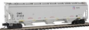 Intermountain Trinity 5161 Cubic Foot Covered Hopper - Ready to Run Union Pacific CMO (gray, Building America Logo) - N-Scale