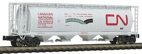 Intermountain 59 4-Bay Cylindrical Covered Hopper Canadian National Z Scale Model Train Freight Car #85202