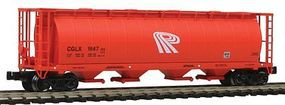Intermountain 59 4-Bay Cylindrical Covered Hopper Potash Corporation Z Scale Model Train Freight Car #85219