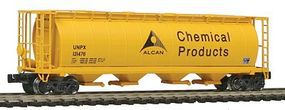 Intermountain 59 4-Bay Cylindrical Covered Hopper Alcan Chemical Z Scale Model Train Freight Car #85232