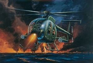 Italeri AH-6A Night Fox -- Plastic Model Helicopter Kit -- 1/72 Scale -- #0017