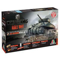 Italeri World of Tanks M4 Sherman Plastic Model Military Vehicle 1/35 Scale #37503