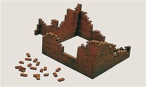 Italeri Shelled Brick Walls Plastic Model Military Diorama Kit 1/35 Scale #550405
