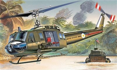 Italeri UH-1D Slick -- Plastic Model Helicopter Kit -- 1/72 Scale -- #551247