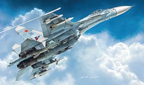 Italeri Su27 Flanker Fighter Plastic Model Airplane Kit 1/72 Scale #551413