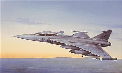 Italeri JAS 39 A Gripen -- Plastic Model Airplane Kit -- 1/48 Scale -- #552638