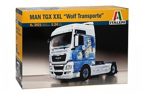 Italeri MAN TGX XXL Wolf Transporte Plastic Model Truck Kit 1/24 Scale #553921