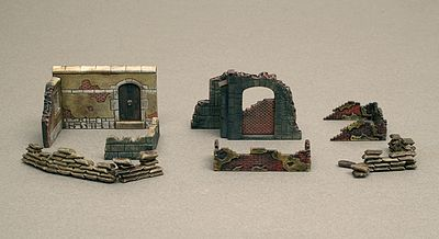 Italeri Walls And Ruins II -- Plastic Model Military Diorama -- 1/72 Scale -- #556090