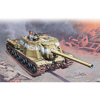 Italeri ISU-122 Fast Assembly Models (2) Plastic Model Military Vehicle Kit 1/72 Scale #557503