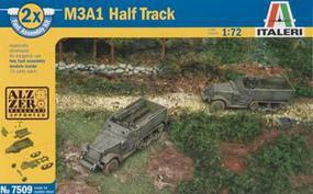 Italeri Fast Assemble Half Track Plastic Model Military Vehicle Kit 1/72 Scale #557509