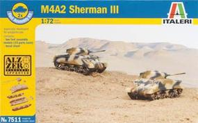 Italeri M4A2 Sherman Plastic Model Military Vehicle Kit 1/72 Scale #557511