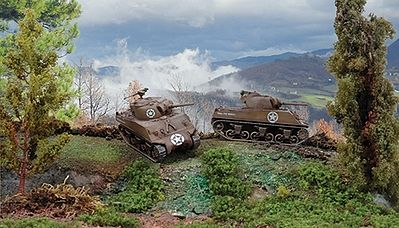 Italeri Sherman M4 A3 -- Plastic Model Military Vehicle Kit -- 1/72 Scale -- #557518