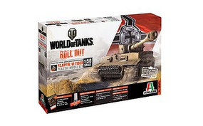 Italeri World Of Tanks Pz.Kpfw.VI Tiger Plastic Model Military Vehicle Kit 1/56 Scale #56501