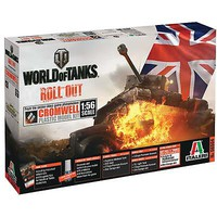 Italeri World Of Tanks Cromwell Plastic Model Military Vehicle Kit 1/56 Scale #56504