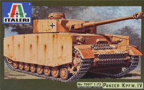 Italeri Pz.Kpfw.IV Plastic Model Military Vehicle Kit 1/72 Scale #7007