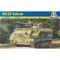 Italeri Vietnam War M163 Vulcan Tank Plastic Model Military Vehicle Kit 1/72 Scale #7066s