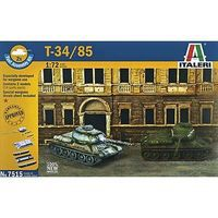Italeri T-34/85 Russian Tank Plastic Model Military Vehicle Kit 1/72 Scale #7515s