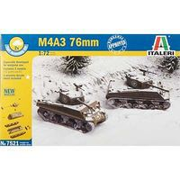 Italeri WWII US M4A3 76mm Tank Plastic Model Military Vehicle Kit 1/72 Scale #7521s