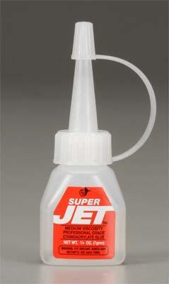 Jet Hangar Hobbies SUPER JET MEDIUM CA 1/4oz -- CA Super Glue -- #766