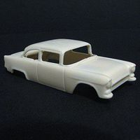 JimmyFlintstone 1955 Chevy 150 Street Body for 4-Gear Chassis Resin Slot Car Body HO Scale #sl35