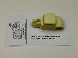 JimmyFlintstone 1934 Ford Hot Rod Body for Thunderjet Chassis Resin Slot Car Body HO Scale #sl7
