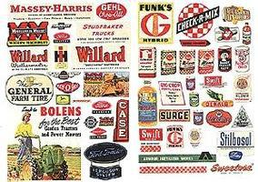 JL Farm Implement/Feed & Seed Posters 1940s and 1950s Model Railroad Billboards HO Scale #183