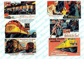 JL Railroad Theme for Billboards 1940s and 1950s Model Railroad Billboards HO Scale #187