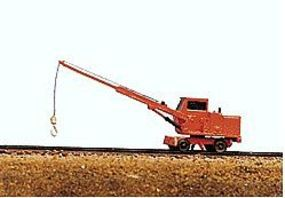 JL Maintenance of Way Utility Crane Metal Kit Model Railroad Vehicle N Scale #2021