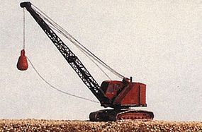 JL Bantam Dragline Crane w/Wrecking Ball Metal Kit Model Railroad Vehicle N Scale #2091