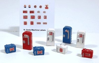 JL Innovative Design Soda Machine Set -- Model Railroad Building Accessory -- N Scale -- #2191