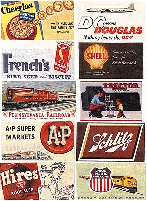 JL Innovative Design Consumer Signs 1940's to 1960's -- Model Railroad Billboards -- N Scale -- #227