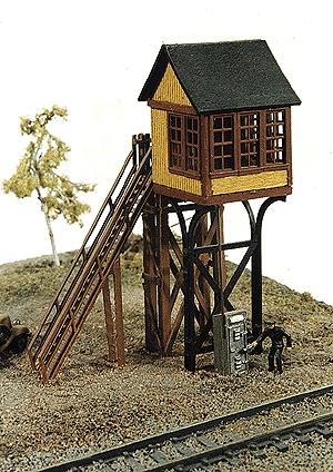 JL Innovative Design Avon St. Elevated Crossing Gate Tower -- Model Railroad Building -- N Scale -- #240