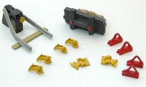 JL HO Rail Car Stops w/Derail Detail Set (12pc)
