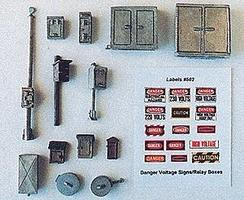 JL Mainline Detail Set w/Relay & Phone Boxes Model Railroad Building Accessory HO Scale #502