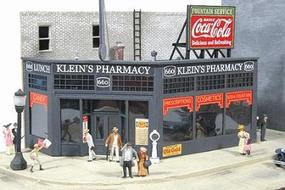 JL Kleins Pharmacy Kit Model Railroad Building HO Scale #531