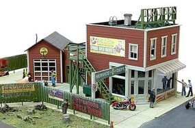JL Grahams Motorcycle Emporium Model Railroad Building HO Scale #621
