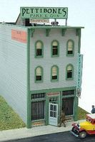JL Pettibones Pawn & Gun Shop Wooden Model Railroad Building HO Scale #631