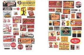 JL Saloon & Tavern Posters & Signs 1930s to 1950s Model Railroad Billboard N Scale #633