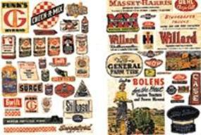 JL Farm Implement/Feed & Seed Posters 1940s to 50s Model Railroad Billboard N Scale #683