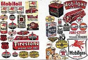JL Gas Station & Oil Company Posters & Signs Model Railroad Billboard N Scale #685