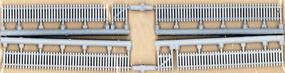 JL Custom Picket Fence Clean White Model Railroad Building Accessory HO Scale #705