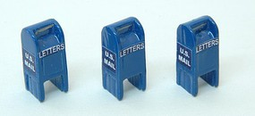 JL HO Custom Post 1955 US Mail Street Boxes, Blue (3)