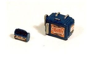 JL Custom Chest Soda Machine and Case Pepsi Model Railroad Building Accessory HO Scale #734