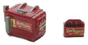 JL Chest Soda Machine and Case Dr. Pepper Model Railroad Building Accessory HO Scale #737