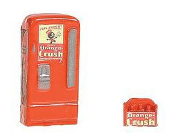 JL Upright Soda Machine/Case Orange Crush Model Railroad Building Accessory HO Scale #743